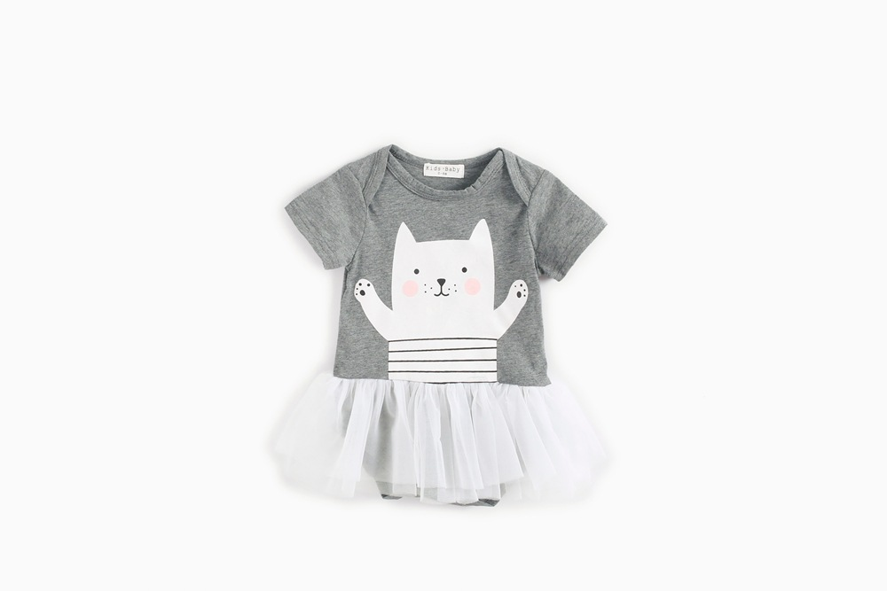 2dd640cd1 2018 Newborn Baby Girl Dress Baptism Kids Clothes Cute Pink Cartoon ...