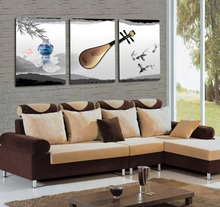 Wall art on canvas 3 pieces chinese art  instrumental music wall decor fashion home decoration modern art
