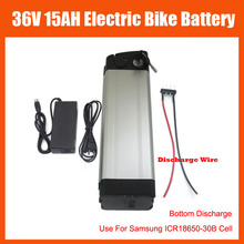 36V Electric Bike battery 36V 15AH lithium ion battery 36V 500W Ebike Battery use for samsung cell with charger Bottom Discharge