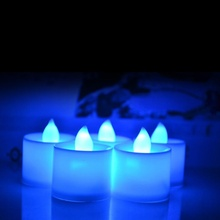 10 PCS LED Candle 6 Colors Flameless Flickering LED Tea Light Battery Candles Wedding Party Holiday Decoration New