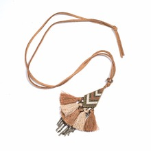 Buy Women Statement Tassel Fringe Pendant Necklace Leather Long Sweater Chain Winter Jewelry Accessories Ladies for $1.49 in AliExpress store