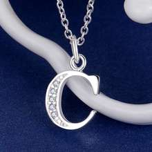 Letter C bling zircon silver plated Necklace New Sale silver necklaces & pendants /ZVTQBUWJ YJGHPWNL