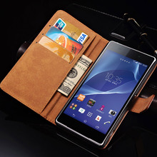 Buy Case Sony Xperia Z2 D6502 L50W L50 Luxury Leather Wallet Flip Case Cover Sony Xperia Z2 Card Slot Stand Design for $1.99 in AliExpress store