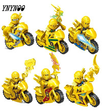 YNYNOO 6pcs/set SX3013 super heroes Ninja Motorcycle Building Blocks Bricks toys Kids Gifts Compatible lepin Ninjagoed - Marvel Store Toy store