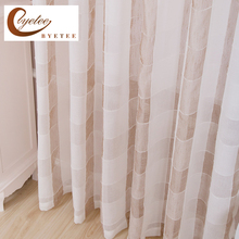 {byetee} Tulle Sheer Living Room Voile Cotton Linen Gauze Tulle Curtain Window Kitchen Luxury Organza Curtains Doors For Drapes(China)