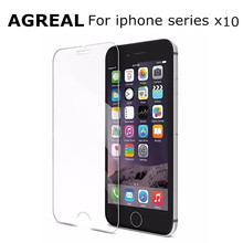 10pcs/lot Ultra Thin 0.3mm Anti-shatter Tempered Glass For iPhone 6 6s plus 7 5 5s 5c 4 4s Screen Protector Film with Clean Tool