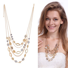 Cascading Clothing Ornaments Layered Necklace Long Maxi Collar Necklaces Sweater Chain Decorative Bisuteria Muje Giftr