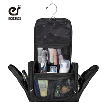 Ecosusi Free Shipping 3 Space Men's Travel Bag Deluxe Travel Organizer For Storage High Quality Multifunction Cosmetic bag