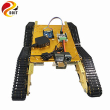 DOIT Metal Crawler Robot Tank Chassis T900 with Arduino and WiFi Video Remote Control Transmission for VR Shoot RC Tank Toy