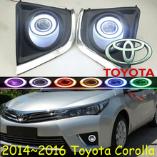 Corolla fog light ,2014~2016;Free ship!Corolla daytime light,2ps/set+wire ON/OFF;optional:Halogen/HID XENON+Ballast,Corolla