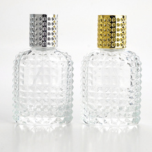50ML New Style Pineapple Portable Glass Perfume Bottle With Spray Empty Parfum Case With Atomizer For Cosmetic(China)