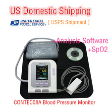 [US Dometic Shipping USPS] NEW CONTEC CONTEC08A Digital Blood Pressure Monitor HR/ SPo2/ NIBP Free Spo2 probe Adult Use(China)