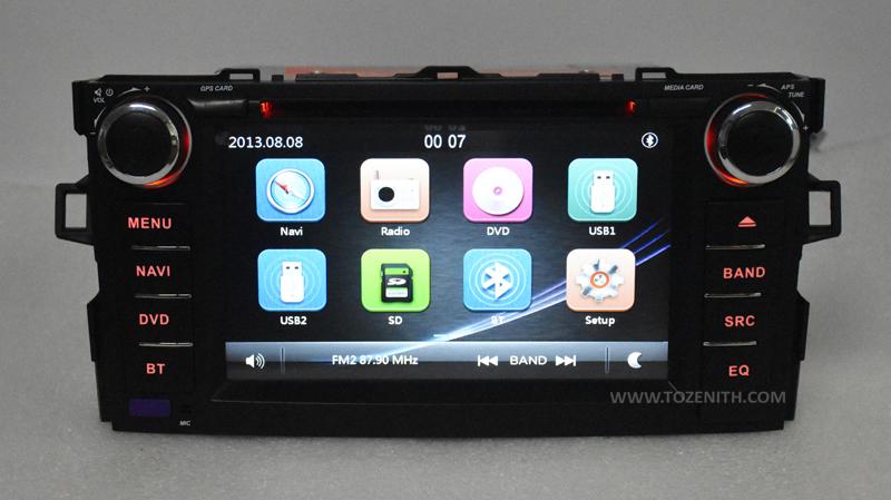 toyota auris corolla hatchback android car dvd radio 2 din 2gb ram (3)