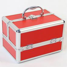 Red Color Cosmetic Organizer Make Up Storage Box,Good Quality Jewelry Box Organizer for Cosmetics,Makeup Nail Polish Storage Box(China)