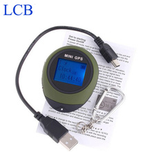 Free shipping Dropshipping 2pcs/lot Handheld Keychain  Mini GPS data logger  USB Rechargeable For Outdoor Sport