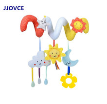 Infant Star Moon Clouds Rattle Toys Activity Stroller Hanging Bed Newborn Educational Dolls for 0-12 Months Baby(China)