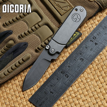 DICORIA peas 440 Stainless steel blade steel handle Tactical folding knife camping hunting outdoor survival knives EDC tools