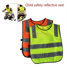 High-quality child protective clothing / kids safety vest / high visibility safety clothing / safety vest orange Free Shipping(China)