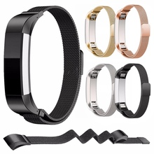 High Quality Stainless Steel Replacement Watch Wristband Strap Band for Fitbit Alta Bracelet Belt Accessory Black /Gold / Silver(China)