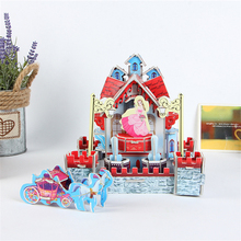 Super Cute Snow White Theme Castle Building 3D Puzzle Jigsaw Baby Girls Princess 3D Toy DIY Educational Castle Model Puzzle Gift(China)