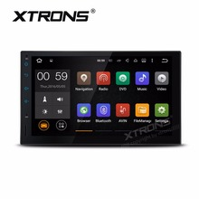 "7"" Android 6.0 OS Double Din Car Multimedia Player 2 Din Car Navigation GPS Two Din Car Radio with Touch Panel/Button Design(China)"