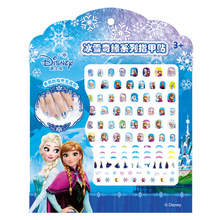 Disney cartoon children nail sticker Elsa Sofia nail art decals makeup pretend play beauty fashion toy cosplay party girl gift(China)