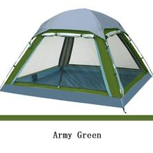 Camping Tent 4 person New 2016 Summer Outdoor Equipment Single Family Tourism Beach Tents Three-season Waterproof  FLYTOP