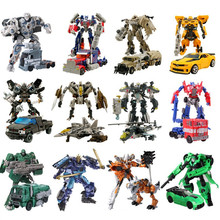 Transformation Optimus Prime Bumblebee Megatron Ironhide Starscream Deformation Robot Toy Action Figures Toys No Original Box
