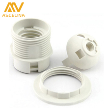 10ps/lot E27 LED Plastic lamp Holder E27 Edison screw Light Bulb socket Holder DIY E27 Socket base Lamp accessories luminaire