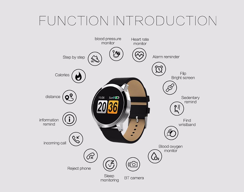 VERYFiTEK Q8 Heart Rate Monitor Smart Watch Blood Pressure Oxygen SmartWatch IP67 Pedometer Men Women Sport Fitness Watches (19)