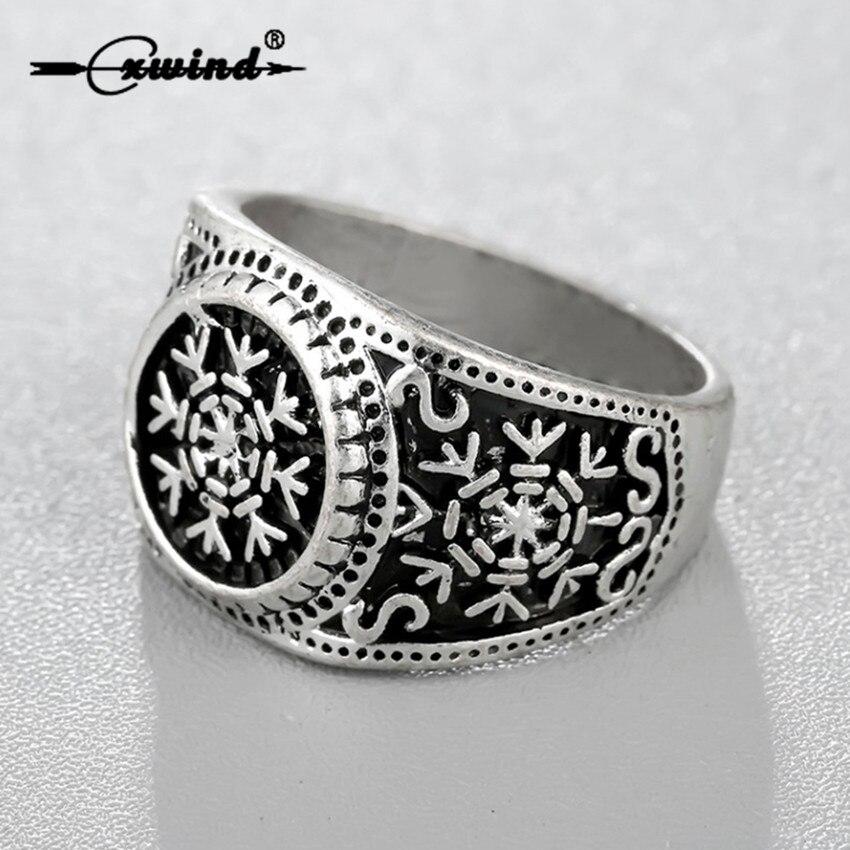 Cxwind Slavic Runes Snowflake Rings Oden