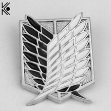 Attack on Titan Shingeki Badges Brooch pins High quality lapel pin brooch jewelry hat tie tack brooch best birthday gift(China)