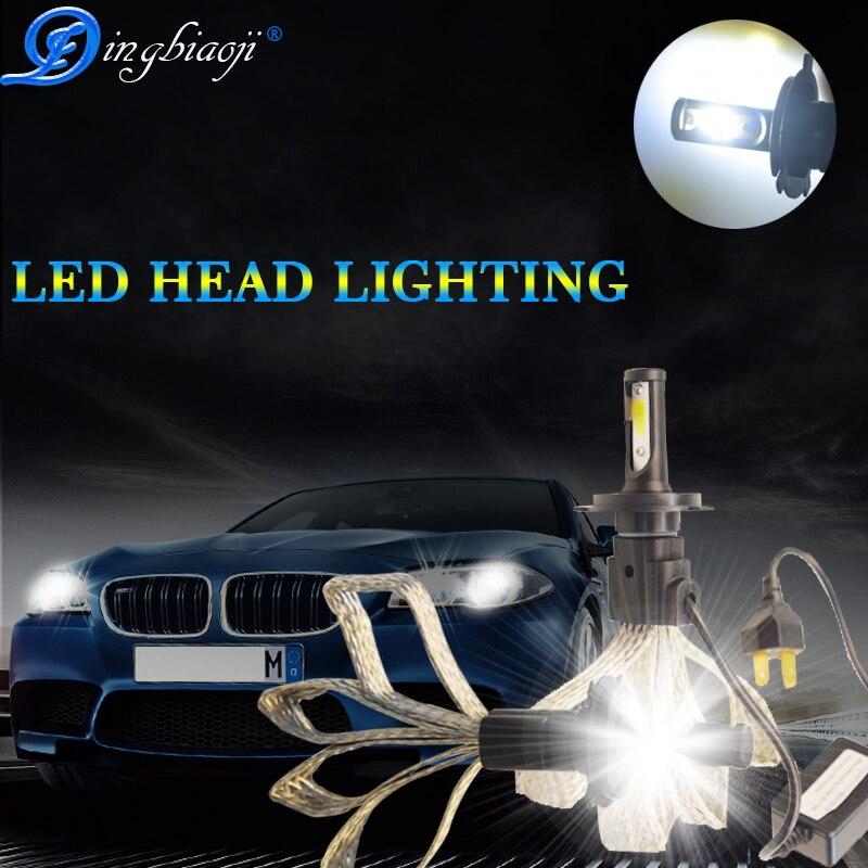 2x S7 60W H11//H8//H9 Car LED Headlight Kit Bulb Conversion COB Lamp 6400LM 6000K.