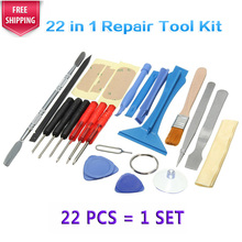 1 Set 22 In 1 Phone Opening Pry Disassembly Ferramentas Tools Screwdrivers Repair Tool Kit For iPhone 4 5S 6 Plus For Samsung S6(China)