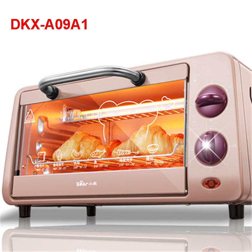 DKX-A09A1 Pizza Oven Convection Smokehouse Mini Multifunction Oven 9L Electric Appliance High Quality Oven Stainless steel shell<br>