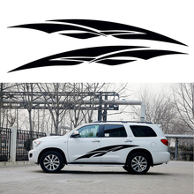 2 X Sharp Tip Coldness Radiance Artistic Streak Lone Swordsman Car Stickers for SUV Camper Van Car Styling Vinyl Decal 9 Colors