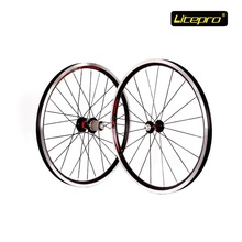 Folding Bike Wheel set Litepro Cump Fun 20 Inch 2 Bearing V Brake Wheelset Road Cycling Refiting Accessory Hub and Quick release(China)