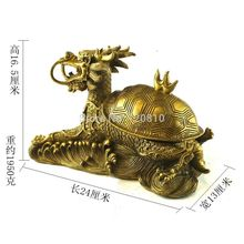 Free shipping copper dragon turtle ashtray Copper Dragon Feng Shui ornaments home crafts furnishings(China)