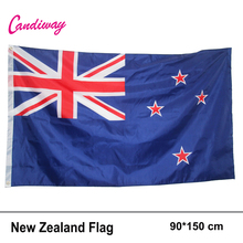 3'x 5' Large New Zealand Flag Polyester National Banner Office/Activity/parade/Festival/Home Decoration New fashion(China)