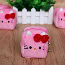 2PCS/LOT baby shower gift hello kitty party favors souvenirs coin bag kids birthday square style