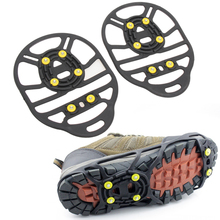 New 1 Pair M L 2 Size 6-Stud Universal Ice No Slip Snow Shoe Spikes Grips Cleats Crampons Winter Climbing No Slip Shoes Cover