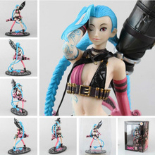 "LOL Jinx 9.5"" 24cm PVC Action Figure High quality kids toy Online game"