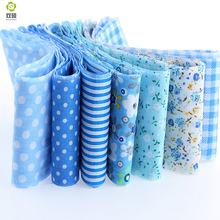7pcs/lot jelly roll sewing textile blue sets fabric strips 5cmx100cm tildas quilting doll's cloths  100%cotton
