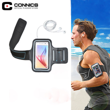 CONNICS Note 8 Running Arm band Phone Holder Bag Case For Samsung Galaxy S6 S7 Edge S8 Plus Note 3 4 5 J5 J7 Man Sport Hand Bag(China)