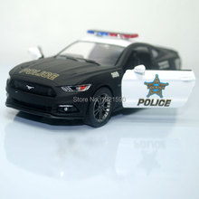 Brand New KT 1/38 Scale USA Ford Mustang 2015 Police Ver. Diecast Metal Pull Back Car Model Toy For Gift/Kids/Collection