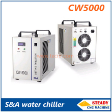S&A CW5000 water chiller for cooling 80W CO2 laser tube