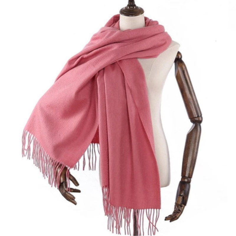 2018 winter women scarf fashion soft cashmere scarves for ladies pashmina shawls and wraps bandana female Tassel Size:70*200cm