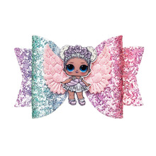 Thumblina LOL Doll Wing Glitter Bow Sparkly Hair Clip for Women Girls Hairpin Children Kids Barrettes Hair Accessories(China)