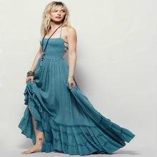 Speed Through Amazon Foreign Trade Best Sellers Suit-dress Reveal Back  Posimi Second Sandy Beach Longuette Cotton Dress oodji 32f4ba6d461d