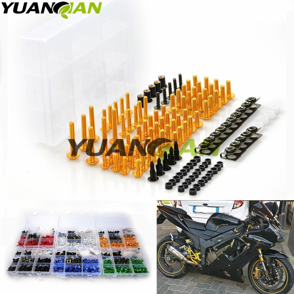 Universal Motorcycle Fairing Bolt Screw Nuts Washers Fastener Fixation FOR YAMAHA YZF R1 R3 R6 R25 R15 YZF600 R6 FZ1 FZ6 FZ400 <br>